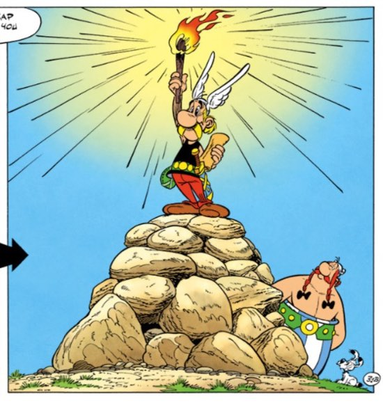 Asterix as the Statue of Liberty