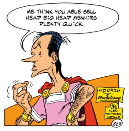 The 1000th page of Asterix by Goscinny and Uderzo