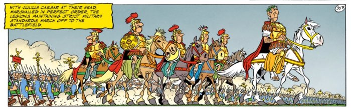 Caesar goes to war with Asterix's Belgians