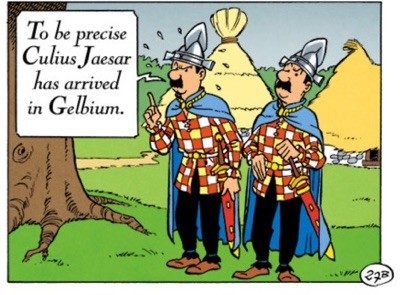 Tintin characters show up in Asterix