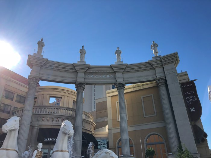 The Romans above the horses in front of Caesars Atlantic City