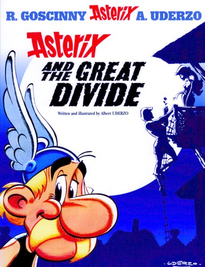 Asterix and the Great Divide cover by Albert Uderzo