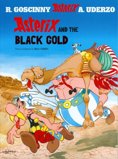 Asterix v26, Asterix and the Black Gold, cover by Albert Uderzo