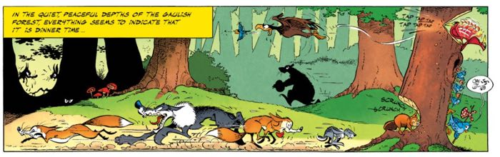 Albert Uderzo likes to draw a forest filled with animals