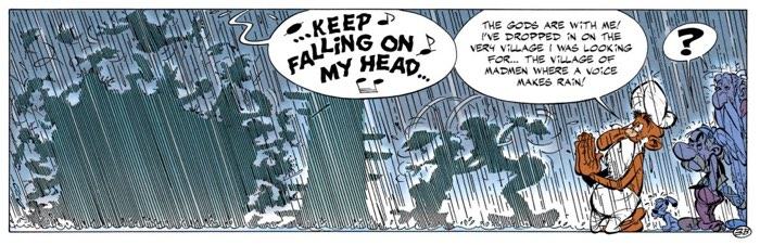 Raindrops Keep Falling On My Head in Asterix and the Magic Carpet