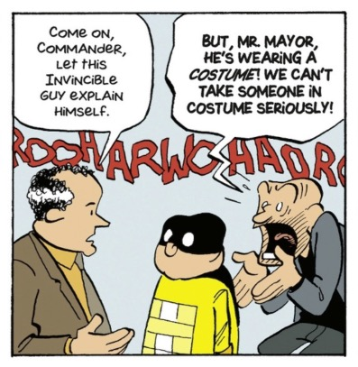 French don't trust superheroes in costumes, do they?