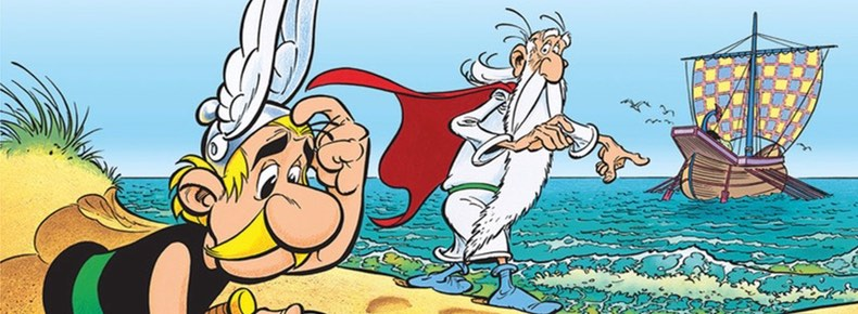 Asterix and Obelix All At Sea cover detail by Albert Uderzo