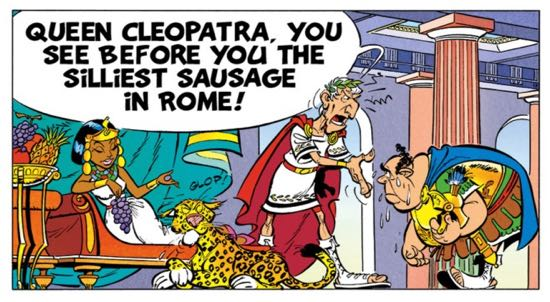 Julius Caesar refers to one of his Admirals as a silly sausage and worse. It's just weird.