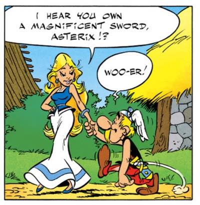 """""""Panacea"""" wants to see Asterix's magnificent sword"""