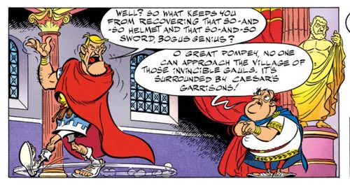 """Pompey rants to Prefect Bogus Genius in """"Asterix and the Actress"""""""