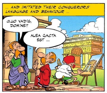 """Alea Jacta Est appeared again in """"Asterix and the Class Act."""""""