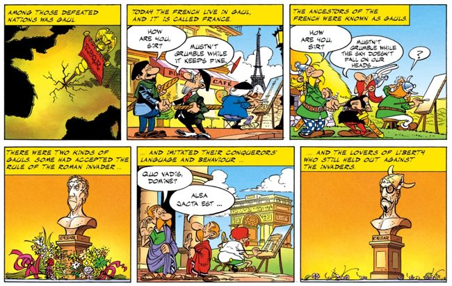 """Goscinny and Uderzo make light fun of the French in the short story, """"In 50 B.C."""""""