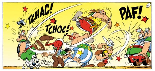 """The Gauls do love to give the Romans a good thumping in """"Asterix and the Class Act"""""""