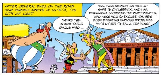 Asterix makes a pitch for the 1992 Olympics in Paris.