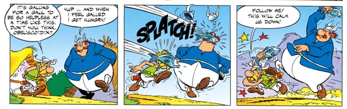 The fathers of Asterix and Obelix like a good row
