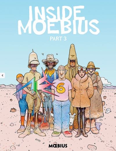 Inside Moebius v3 cover by Jean 'Moebius' Giraud, published by Dark Horse
