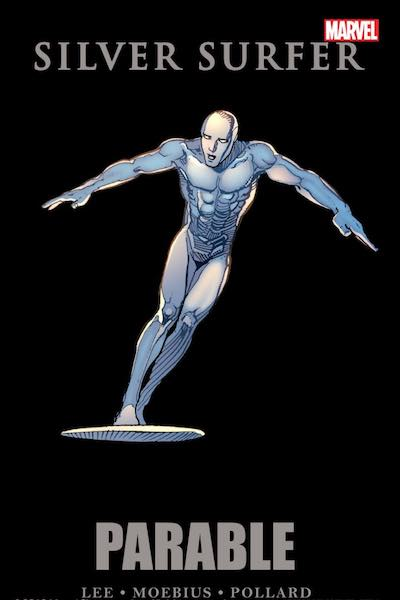 Silver Surfer Parable collected edition cover by Moebius