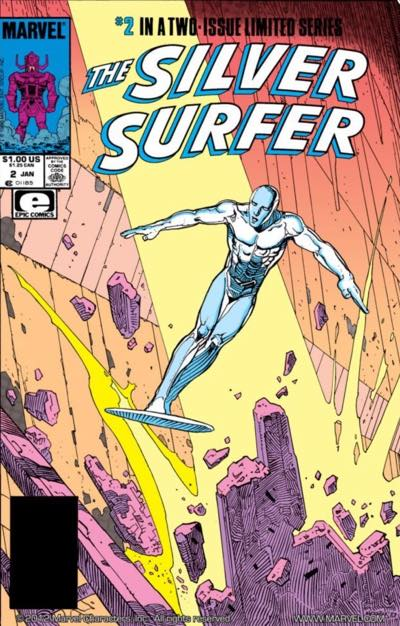 Silver Surfer: Parable #2 cover by Jean Moebius Giraud