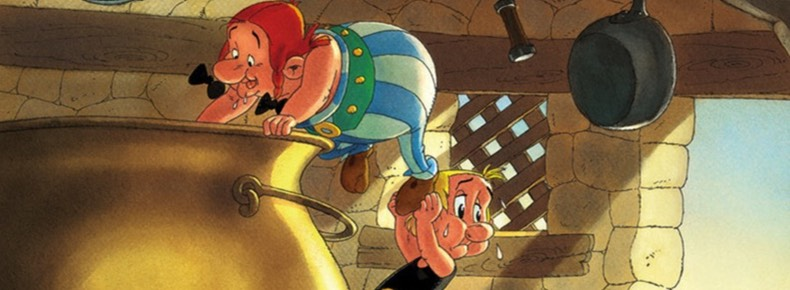 How Obelix Fell Into the Magic Potion When He Was a Little Boy cover detail by Albert Uderzo