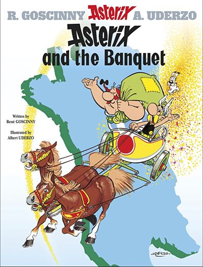 Asterix v5 Asterix and the Banquet cover by Albert Uderzo