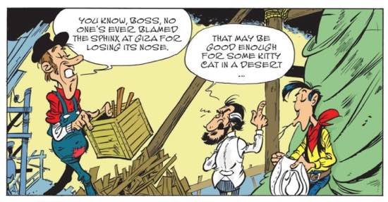 """A Sphinx reference from Lucky Luke """"A Cowboy in Paris"""""""