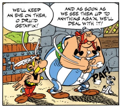 """Asterix and Obelix are ready for a fight in """"Mansions of the Gods"""""""