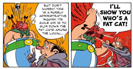 """You really shouldn't say the word """"fat"""" around Obelix"""