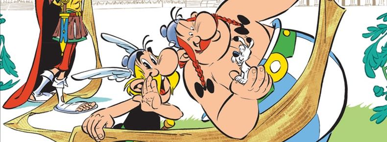 Asterix and the Missing Scroll cover detail