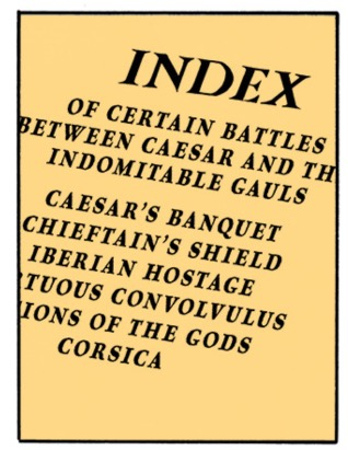 The index to the missing scroll of Caesar's Commentaries on the War