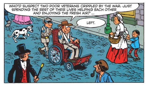 Blutch and Sarge go undercover as wounded Confederate soldiers in South Carolina.