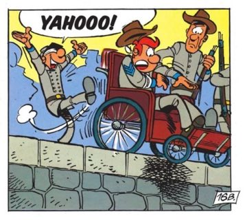 Sarge Chesterfield and Blutch make for terrible spies in The Bluecoats v12: The David