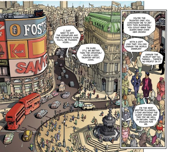 London in the Wisher universe.  It's a very busy place.