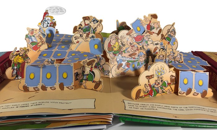 Roman soldiers in Asterix on the Warpath