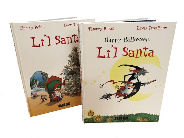 Li'l Santa by Lewis Trondheim and Thierry Robin.  NBM published two volumes in the series.