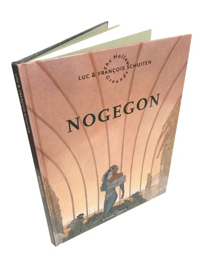 """Luc and Francois Schuiten's """"Nogegon"""" album, in which the story is told in a palindromic style."""