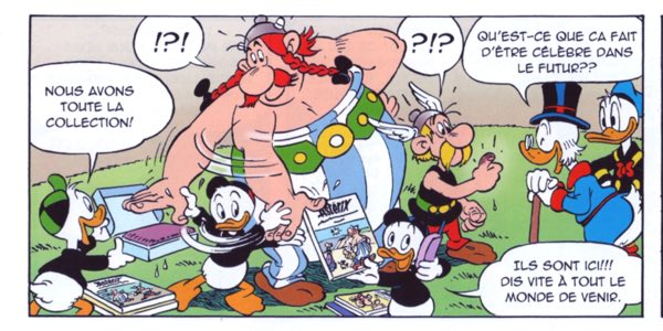 Asterix and Obelix meet Uncle Scrooge and their adoring public