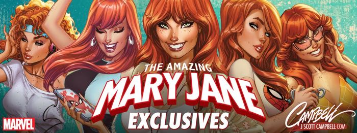 J. Scott Campbell produced a series of Mary Jane-specific covers for his fans recently.