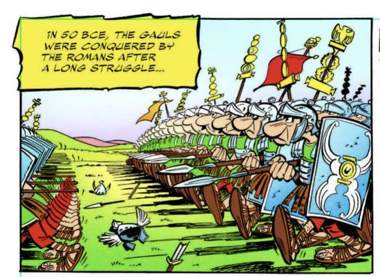 The Papercutz edition of Asterix the Gaul uses BCE instead of BC