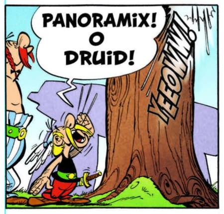 Under Papercutz, the Druid of Asterix's Village is now named Panoramix, as he is in the original French