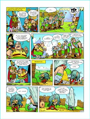 Papercutz Asterix Preview pages and their healthy white margins