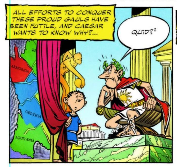 Papercutz lettering and writing mistake from Asterix the Gaul