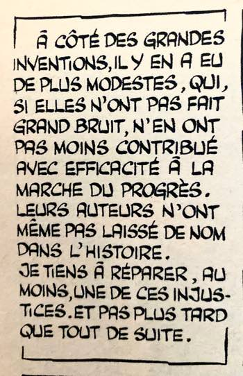 Sample Gotlib lettering from Rubrique-a-brac in Pilote Journal