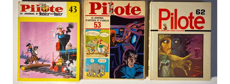Three Pilote hardcover collected editions from the 1960s and 1970s