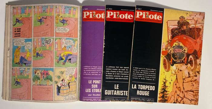 The issues fall out of the Pilote HC collected edition