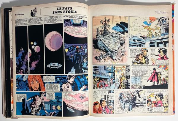 """The first pages of Valerian's """"The Land Without Stars"""" from Pilote #570"""
