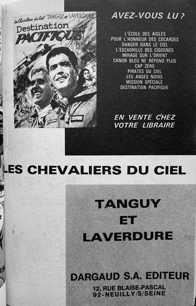 Super Pocket Pilote ad for Tanguy