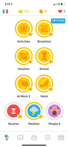 I like to play multiple modules at once in DuoLingo