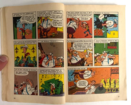 Lucky Luke page spread from Super Pocket Pilote #3