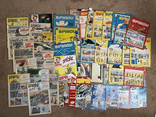 My collection of Spirou magazine issues