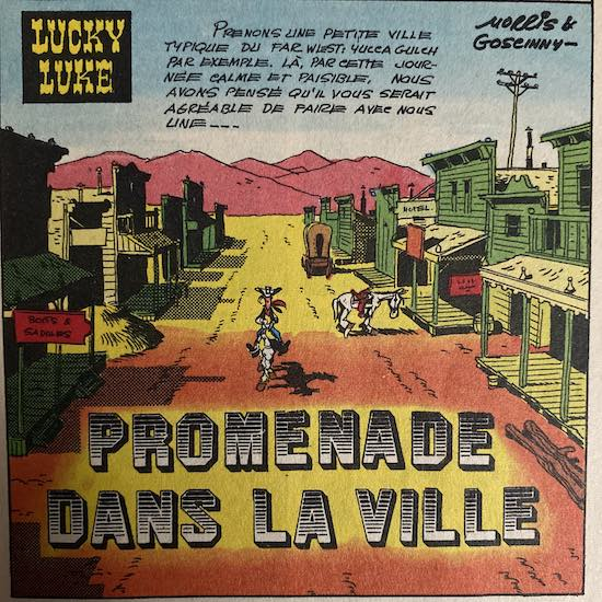 Lucky Luke title page by Morris